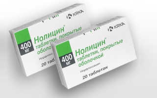 Инструкция по применению таблеток Нолицин 400 мг при цистите, цена, аналоги