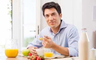 Диета при хроническом простатите у мужчин: продукты питания и примерное меню